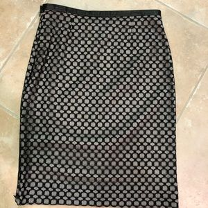 Lacey pencil skirt